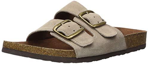 WHITE MOUNTAIN Shoes Helga Women's Sandal, LTTAUPE/Suede, 8 M