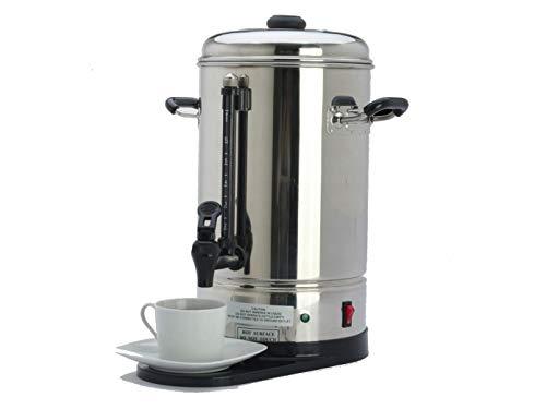 Cafetera eléctrica profesional de acero inoxidable, 6 litros, 2 sistemas de calefacción,...