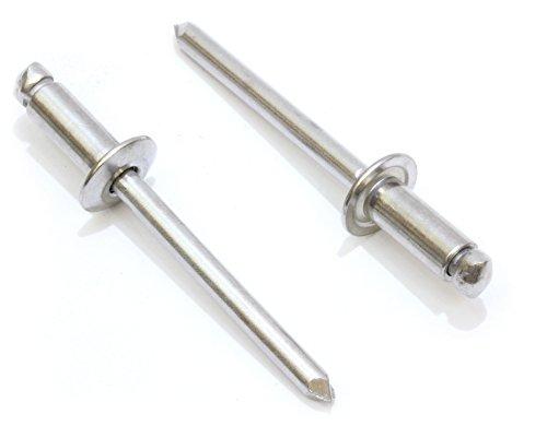 Bolt Dropper Rivets, Stainless Steel 3/16