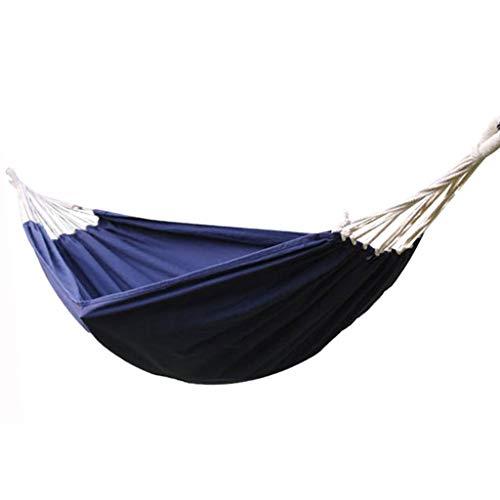 Dongxiao Hamaca de camping, de viaje, de camping, cama individual, ideal como regalo para padres para patio trasero, playa, mochilero (color: azul)
