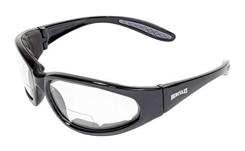 Global Vision Eyewear Hercules Bifocal Anti-Fog Safety Glasses with EVA Foam, Clear Lens