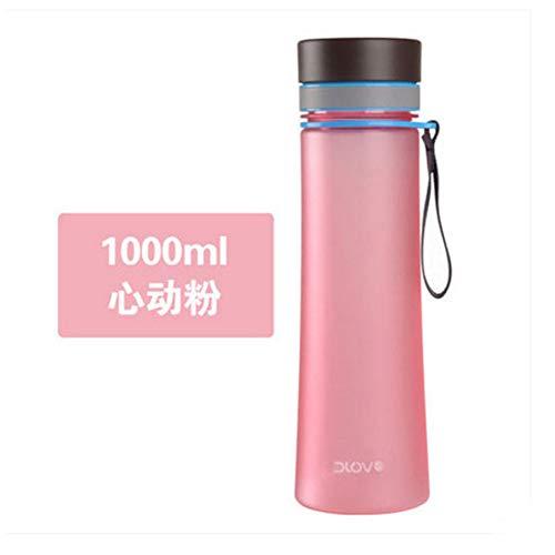 ASR Botella de agua de color puro, antigoteo, para deporte, correr, ciclismo, senderismo, 400 ml, 600 ml (D, 1000 ml)