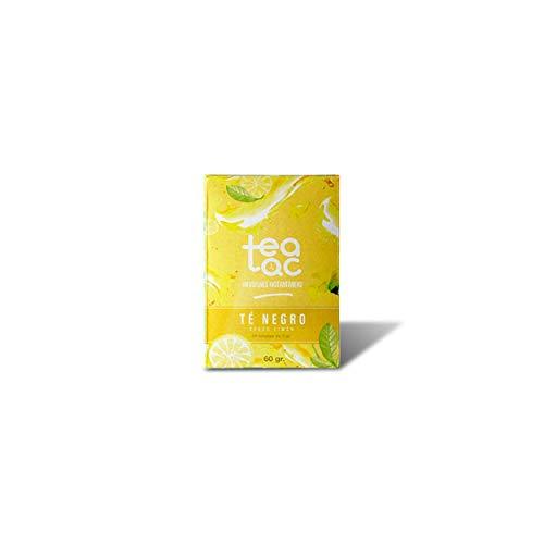LA TETERA AZUL Te Negro Frío Sabor Limón. Infusión Fría En Polvo. Tea Tac. Caja Con 20 Sobres