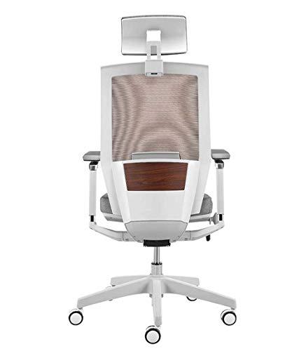 Ergonomischer Stuhl Computerstuhl Home Boss Stuhl Bürostuhl Komfortable sesshafte Rückenlehne Hubschwenksitz, weiß MISU (Color : White)