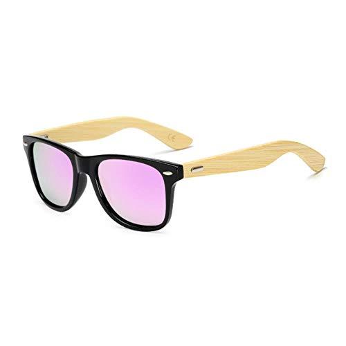 UKKD Gafas de sol Gafas De Sol Polarizadas Gafas De Sol De Madera Hombres Mujeres Bambú Gafas De Sol Para Hombres Mujeres Eyewear Retro-1501Po C57