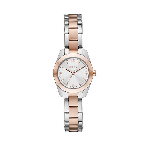 DKNY Women's Quartz Watch with Stainless Steel Strap, Two-Tone, 12 (Model: NY2923)