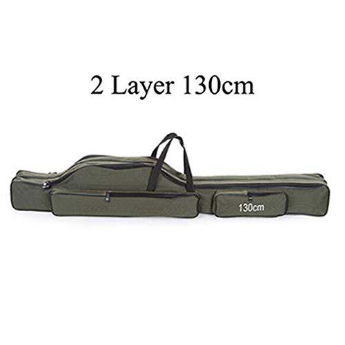 JICYU Angeltasche, tragbare Falten Angelrutentasche, Mehrzweckträger Angelrute Köder Werkzeuge Aufbewahrungstasche Fall,threelayers120cm