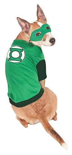 Rubies Disfraz de Linterna Verde para Mascota, DC Comics para Perro, pequeño, Cuello a Cola de 11 Pulgadas, Pecho 17 Pulgadas