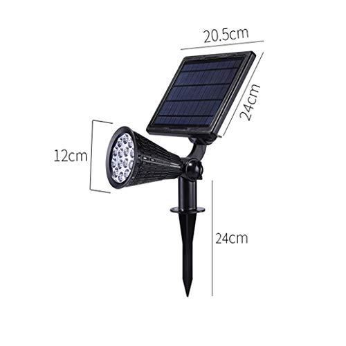 ZXH 14 led-zonnelamp, voor buiten, waterdicht, veiligheid voor tuin, landschap, hoek van 180 graden verstelbaar, nacht/auto-off, per dag voor boom, tuin, gazon, paden