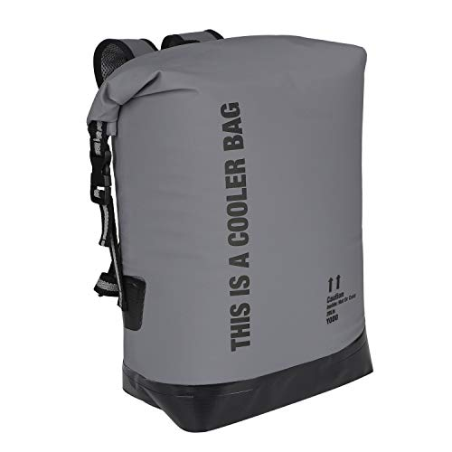 Yodo 20L Waterproof Dry Bag Roll Top Floating Insulated Cooler Backpack for Travel, Boating, Kayaking, Swimming, Fishing, Camping,Beach,Gray