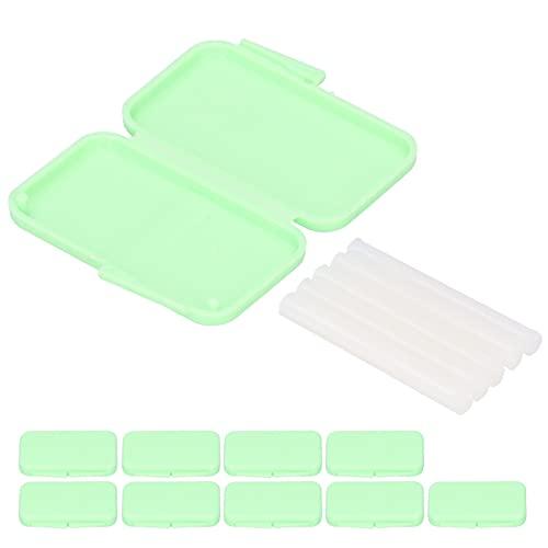 cera de ortodoncia dental para aparatos ortopédicos, el cuidado dental, aparatos de protección bucal de aparatos dentales, 10 piezas(verde)