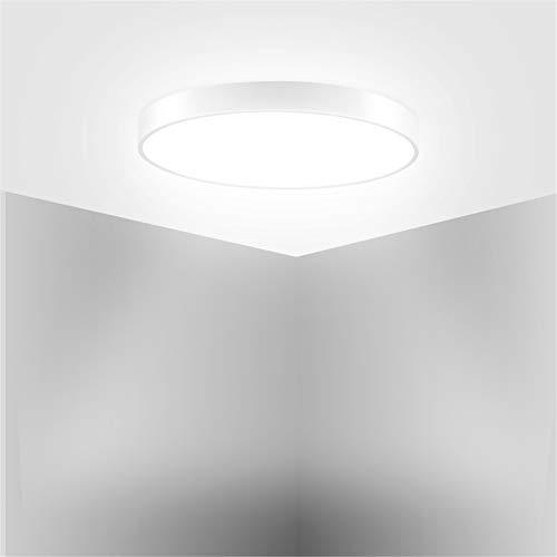 HXFYJ Lámpara de Techo LED de 28W, Panel de luz LED ultradelgado de 1680lm, luz de día 6500K, luz de Techo LED fácil de Instalar para baño, Dormitorio,Cool White