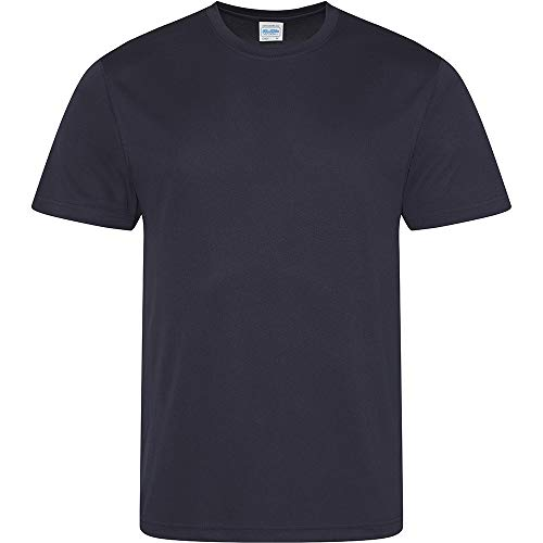 Just Cool Herren Performance T-Shirt 5XL,Marineblau