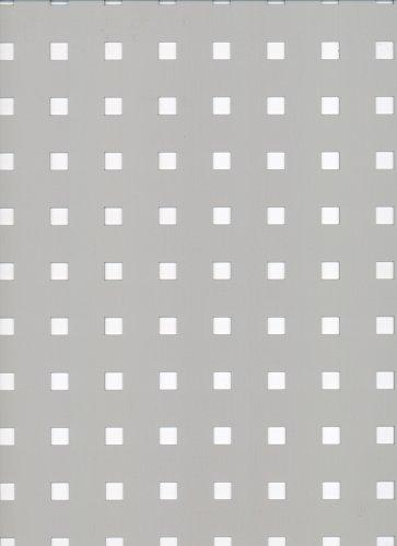 GAH-ALBERTS 467180 - Chapa perforada - perforación Square, de aluminio, anodizado color plata, 600 X 1000 X 0.8 Mm