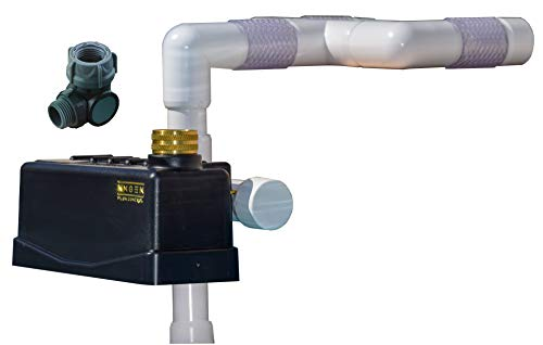 Staypoollizer 2.0 Premium with Stainless Steel Nxgen Flow Control Combo (White) Automatic Pool Water Leveler
