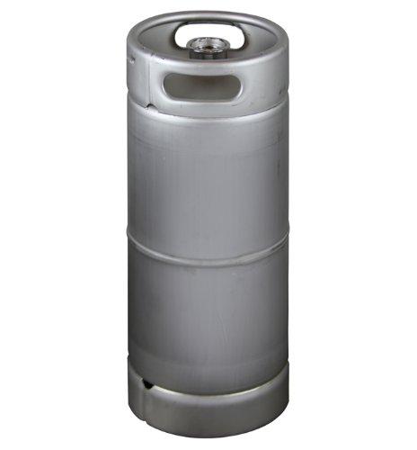 Kegco HS-K5G-DDI 5 Gallon Keg, Drop-In D System Sankey Valve, Stainless Steel