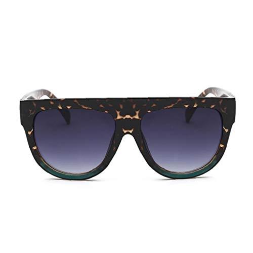 IUwnHceE Verano Plaza de Gafas de Sol de Moda Retro de Cristal llanas portátil de Gafas Estudio para Escuela de la Oficina al Aire Libre de los vidrios