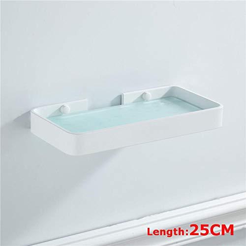 zyh1229 Doucheplank voor de badkamer, hoek van glas, met gaten voor douche, wandmontage, opbergplank
