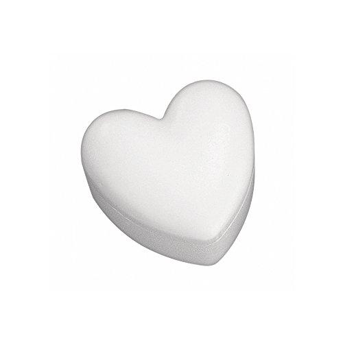 Rayher 3322400 piepschuim doos, 2-delig, hartvorm, 15 cm