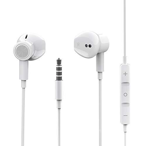 Auriculares de 3,5 mm In Ear con Micrófono, Cascos con Cable con...