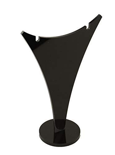 Colgante de acrílico con forma de lágrima y pendientes (negro, número de soportes – 1)