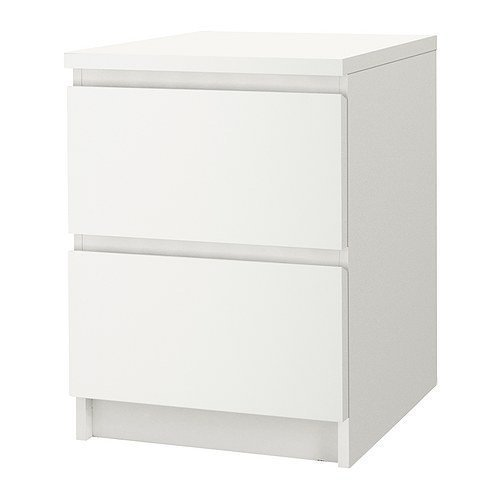 IKEA MALM Kommoden mit 2 Schubladen; in weiß; 2 Stück