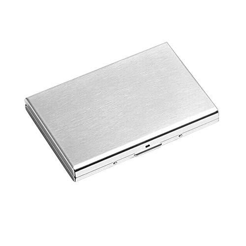 RFID Blokkeren Portemonnee voor Vrouwen Mannen Ultra Dunne RVS Credit Card Houder Geborsteld Zilver Finish Houder Case met 6 Slots