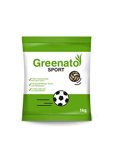 1kg Rasensamen Greenato Sport Sportrasen Sport- und Spielrasen Spiel Rasen Grassamen Rasensaat Gras
