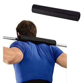 B Fit 17 Inches Military Color/Black Color Extra Thick Barbell Neck Pad and Shoulder Support for Weight Lifting Crossfit Powerlifting; Fits Olympic Size Bars and a Smith Machine Bar (Black)