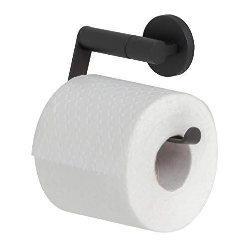 Tiger Noon Toilettenpapierhalter, schwenkbarer Toilettenrollenhalter aus Edelstahl, Farbe: Schwarz, BxHxT: 13,2 x 9 x 4 cm