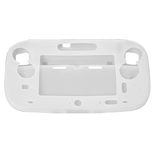 SODIAL(R) Funda Carcasa Silicona Protector Color Blanco para Nintendo Wii U Gamepad