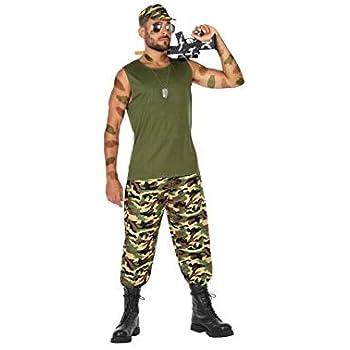 Atosa-54127 Disfraz Militar, Color Verde, XS-S (54127): Amazon.es ...