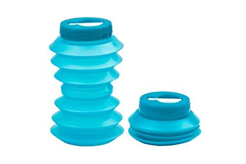 Ohyo 500ml la botella de agua plegable (azul )