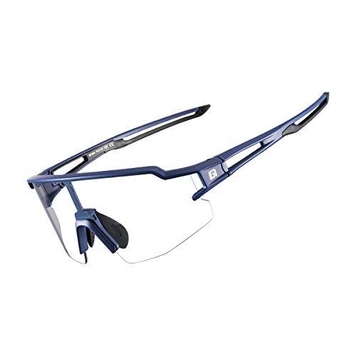ROCK BROS Gafas de sol deportivas fotocromáticas para hombres y mujeres ciclismo protección UV