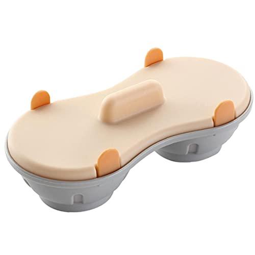 Yililay Microondas Cazador furtivo del Huevo Pueden Lavar en lavavajillas Doble Cuevas escalfados Copas Dobles para cocinar Huevos microondas Huevo escalfado Vapor Cocina Gadget