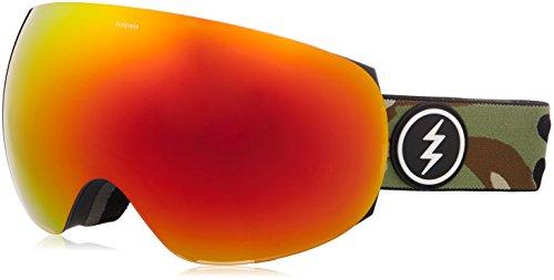 Electric Unisex– Erwachsene EG3 Snowboardbrille, Oliv braun rot, One Size