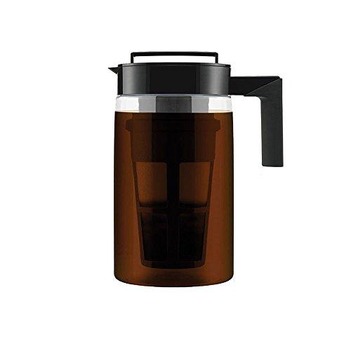 900ML Cold Brew Iced Coffee Maker mit luftdichtem Deckel und Silikongriff, spülmaschinenfest, luftdicht versiegelt, Silikongriff Kaffeekessel mit neuer und verbesserter Filterfarbe zufällig