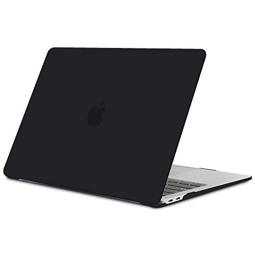 TECOOL Funda para MacBook Air 13 Pulgadas 2018 2019 2020 (Modelo: A2337 M1/A2179/A1932), Slim Cubierta de Plástico Dura Case Carcasa para Nuevo MacBook Air 13 con Retina Pantalla y Touch ID - Negro