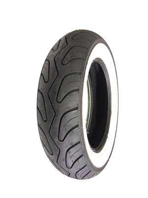 Scooter Tire, Whitewall 3.50 x 10 Tubeless
