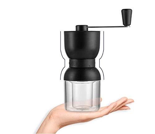 Wuudi Manuelle Kaffeemühle mit einstellbarer Einstellung, konische Keramik-Fräsmühle, Kaffeemühle für Aeropress, Tropfkaffee, Espresso, französische Presse, türkisches Brauen