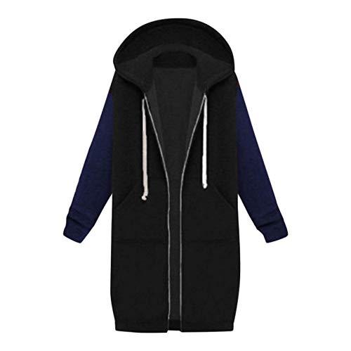 TUDUZ Damen Herbst Winter Mantel Vintage Cloak Hoodies Einfarbig Beiläufig Lange Ärmel Sweatshirt Lange Mantel Tops Outwear Light Jacke (XL, Z-Mehrfarbig1)