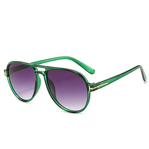 UKKD Gafas De Sol Hombres Gafas De Sol Hombres Mujeres Futuristas Gafas De Sol Leopardo Verde Vintage-06
