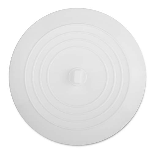 Cuttte Silicone Bathtub Stopper, 6 Inches Large Drain Stopper, Flat Suction Drain Cover, Tub Stopper Drain Plug for Kitchen, Bathtub and Laundry