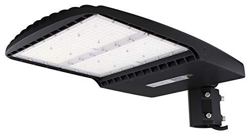 dephen 300W LED Parking Lot Light DLC UL-Listed, 5700K Led Shoebox Pole Lights 42000Lm Equivalent 1000W Metal Halide - LED Street Light for Outdoor Area Lighting - Slip Fitter - 100-277Vac
