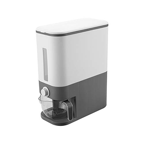 12 Kg Rice Box Rice Storage Container Kitchen Grain Storage Boxes Seal Grain Storage Container, For Rice Grain Kitchen Food, Large Household Bucket Dispenser Box Metering Cylinder With Lid Automatic
