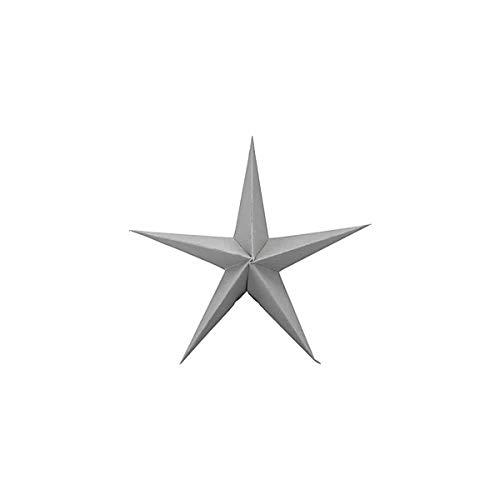House Doctor Star Papierstern zum Aufhängen grau 3er Set 15 cm