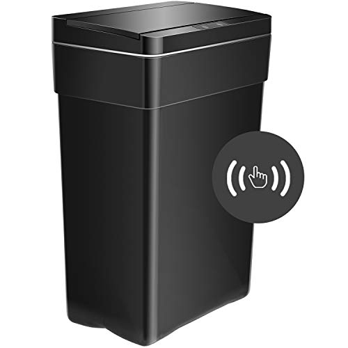 HCB Trash Can Automatic Garbage Can Plastic Touch Free Waste Bins 13...