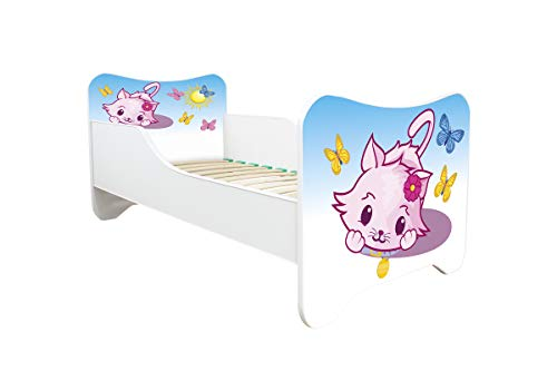Topbeds Lit pour enfant Design Happy Kitty Matelas inclus 140 x 70 (LITTLE KITTY)