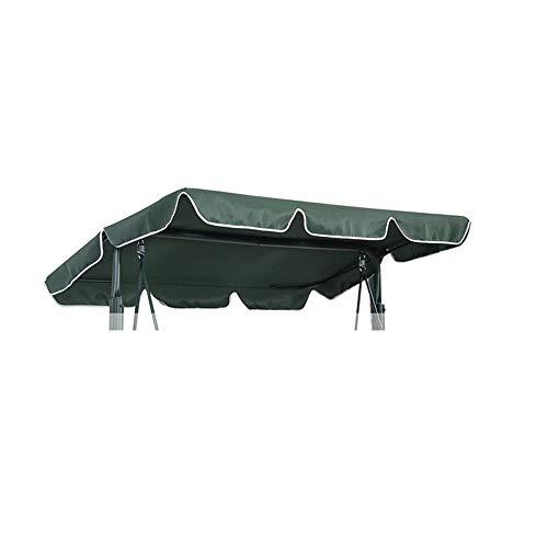 WingFly Tettuccio per Dondolo Tetto di Ricambio per Dondolo da Giardino, Copertura di Ricambio Dimensioni 2 e 3 Posti e Vari Colori (195x125cm, Verde)