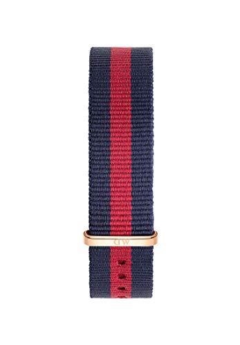 Daniel Wellington Classic Oxford, Correa Azul-Rojo/Oro Rosado, 18mm, NATO, para